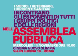 Assemblea pubblica a Roma mercoledì 14 novembre ore 10