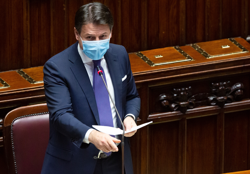 Gli interventi di Conte in Parlamento, verso il nuovo DPCM