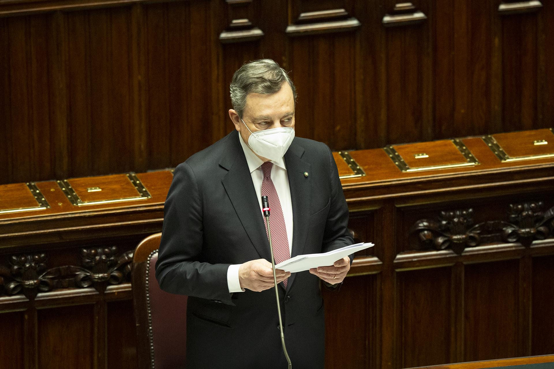 Le 6 missioni del PNRR, il discorso di Draghi alla Camera