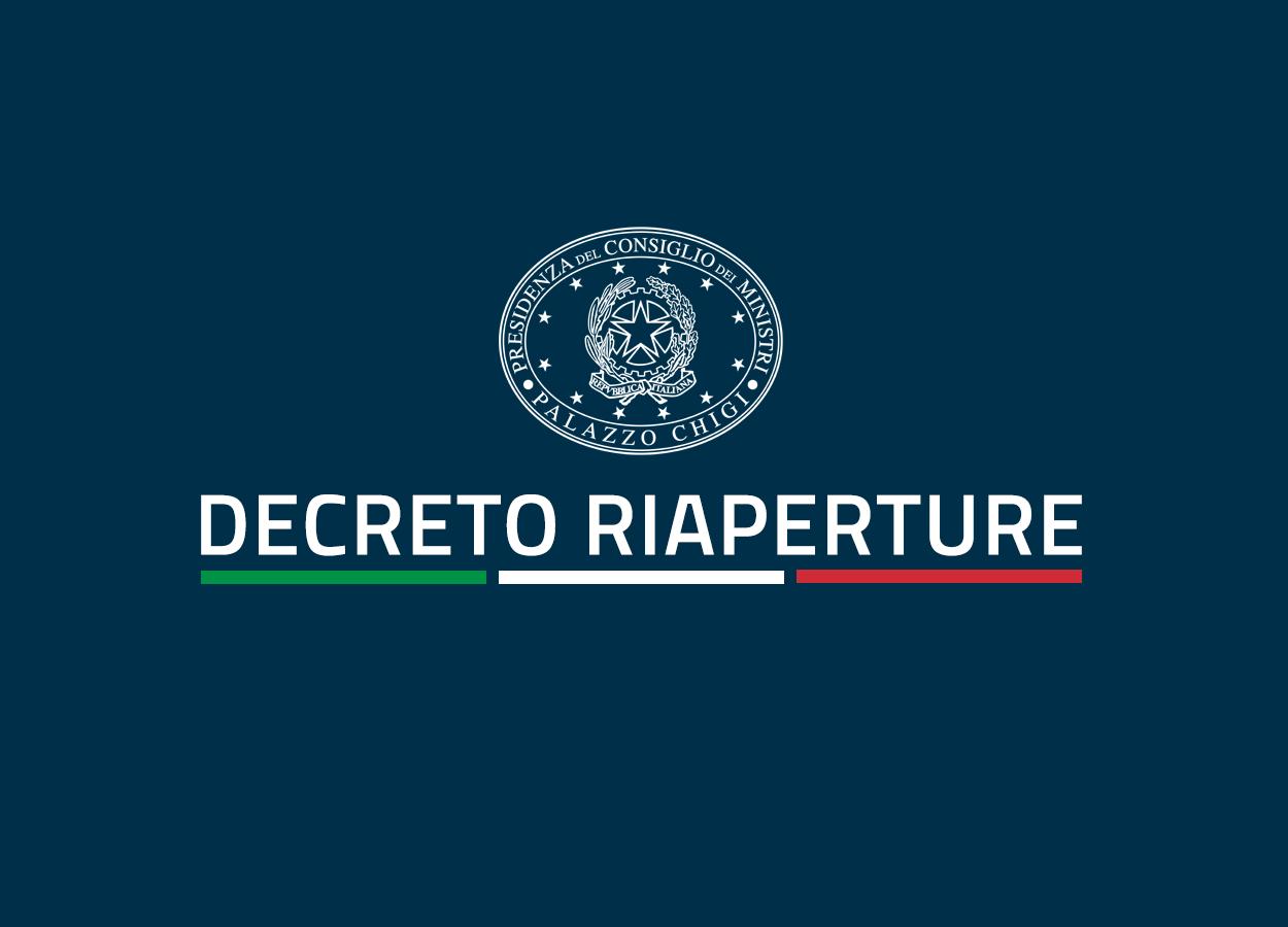 """Decreto """"riaperture"""" approvato in CdM"""
